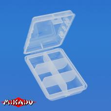 """Арт.UABM-002 Коробка рыболова """"Mikado"""" ( 9,7 х 6,6 х 2,5 см ) (UHS-002)"""